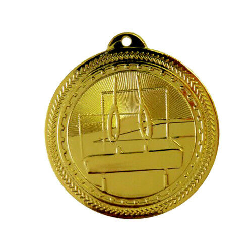 FREE P+P 3 COLOURS PACK of 10x GYMNASTICS MEDALS 50mm HIGH QUALITY /& RIBBONS