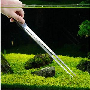 Edelstahl-Aquarium-Pinzette-Futterpinzette-Pflanzenpinzette-Pinzette-27cm-FFT