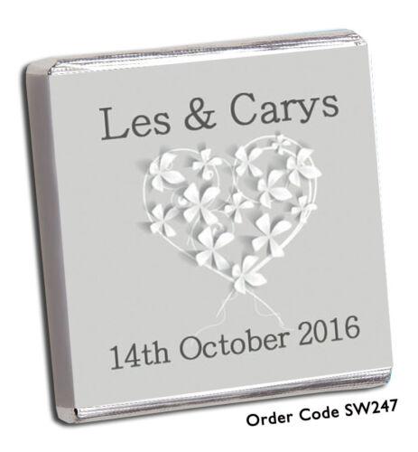 150 personnalisé chocolat mariage faveurs Brand New Designs for 2019 Gratuit P P