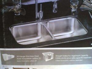 Nib Nice Elkay Stainless Steel Undermount Two Bowl Kitchen
