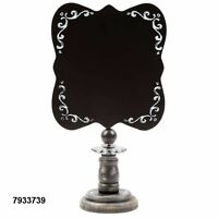 Candlestick Black And White Chalkboard Table Piece Sign