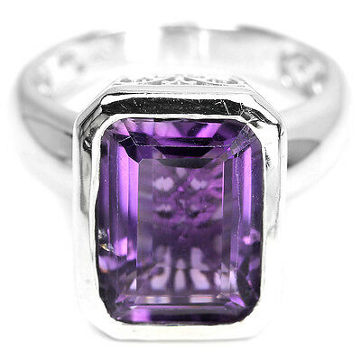 Gold Plated Wedding Ring G1298 Details about  /925 Sterling Silver Amethyst Gemstone Rose Gold