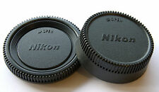 Camera Body Cover + Lens Rear Cap For Nikon D700 D300 D3 D200 D2Xs,D80,D60 D90 D