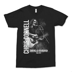 RIP Chris Cornell Tribute 100% Cotton Gildan  SS T-shirt Created by SpitFire Inc