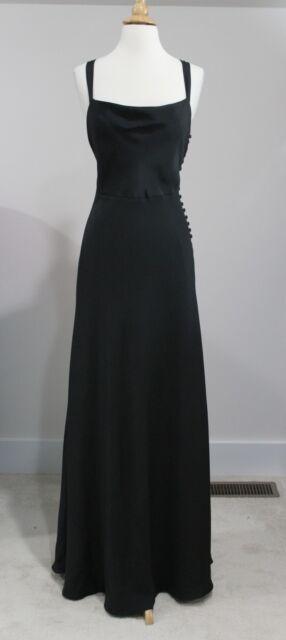 New J CREW Black ROBIN Long Silk Dress Sz 10P Formal Gown Evening Style 11831