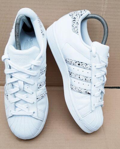 Uk 5 Print Precioso Splash White tamaño negra Rare con pintura Superstar Adidas ggv6Bw
