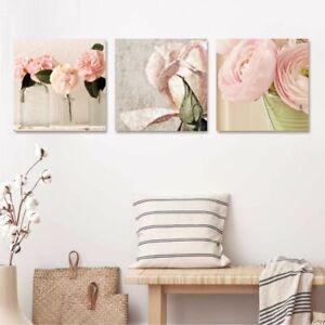 Tris Rose Shabby Chic 2 Quadri Moderni Fiori Per Soggiorno Camera Cucina Ebay