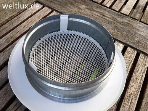 Weltlux Lüftungsgitter Abluftgitter Garagen Gitter Insektenschutz Ø100,125,150