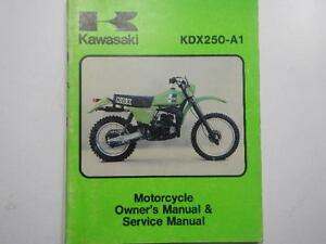 1980 kawasaki kdx250 owners repair service manual 80 kdx 250 a1 rh ebay ie kawasaki kdx 250 service manual kawasaki kx 250 f 2009 service manual