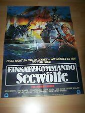 EINSATZKOMMANDO SEEWÖLFE - Kinoplakat A1 ´82 (A) - John Howard