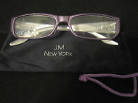 Jm York Reading Glasses +3.50 Lavender Jewel-tone Spring Hinged Purple Joy M