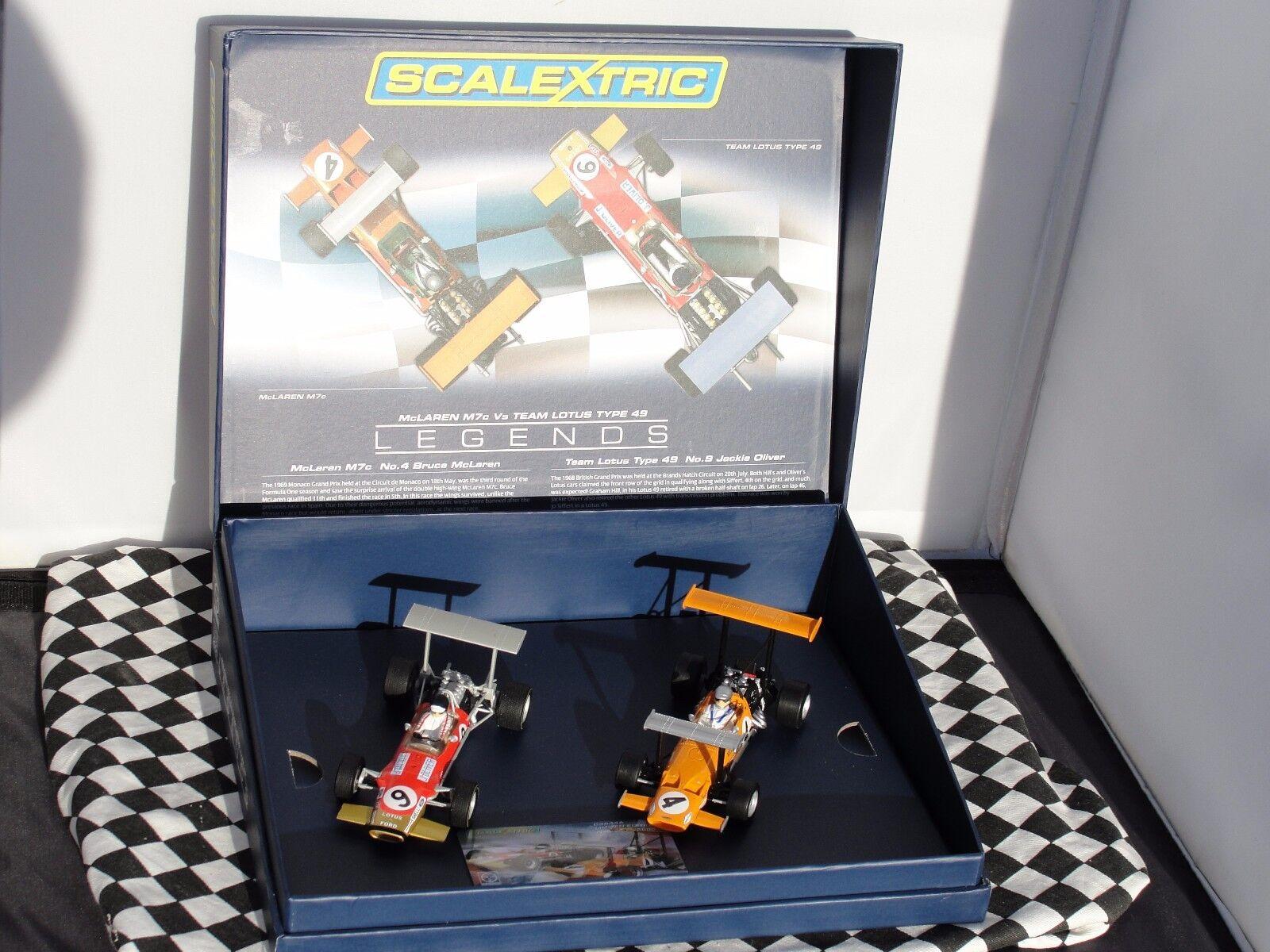 Scalextric Legends Team Lotus Type 49 vs McLaren M7C C3544A Box Set 1.32 slot