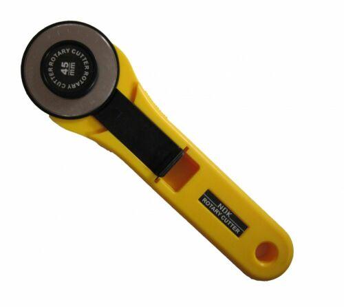Ø 45 mm mit Sicherung Klinge auswechselbar Snaply Rollschneider Stoffschneider