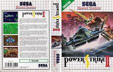 Power Strike II 2 Sega Master System Replacement Box Art Case Insert Cover Scan