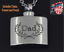 Dad Hip Flask Necklace Funeral Memorial Jewelery Ash Urn Pendant