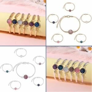 Jewelry-Cuff-Bangle-Silver-Gold-Bracelet-Nature-Stone-Crystal-Quartz-Druzy