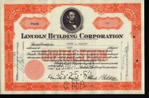 Lincoln-Building-Corporation-NY-iss-Harry-Kugler-Abraham-Lincoln-Portrait-Vign