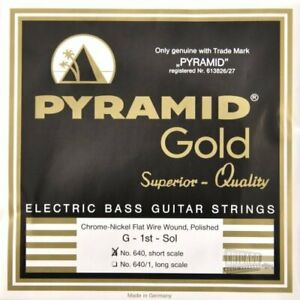 Pyramid-Gold-Flatwound-Short-Scale-Bass-Guitar-Strings-40-100