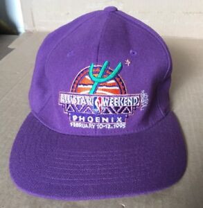 4a25d7eb6 NBA All Star Weekend Phoenix 1995 Vintage Purple Fitted Hat Size 7-7 ...