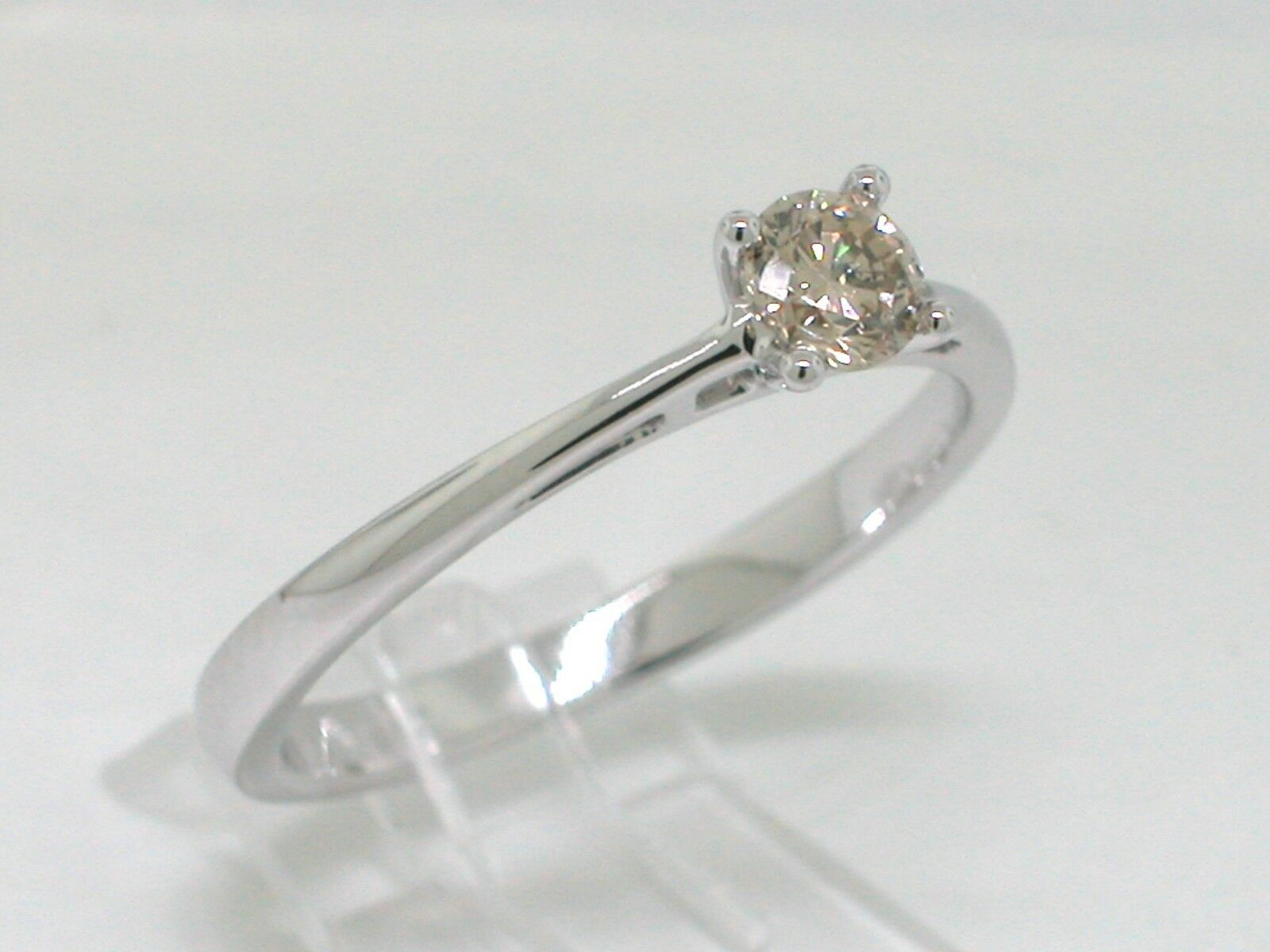 Solitario Brillante Anello 585 585 585 oro BIANCO 14kt oro 1 brillante 0 25ct Anello di fidanzamento 38bc07