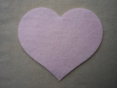 FELT Large HEARTS Die Cuts Valentines Decorations Christmas Appliques - VARIOUS
