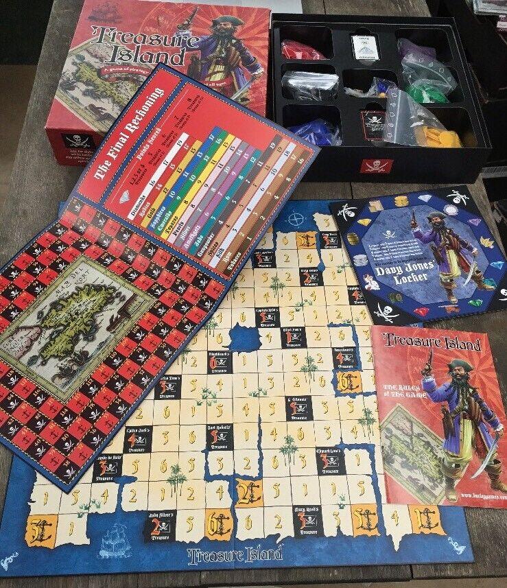 Treasure Island Strategy Board Game Carta Mundi Burley 2003 100% Complete Pirate