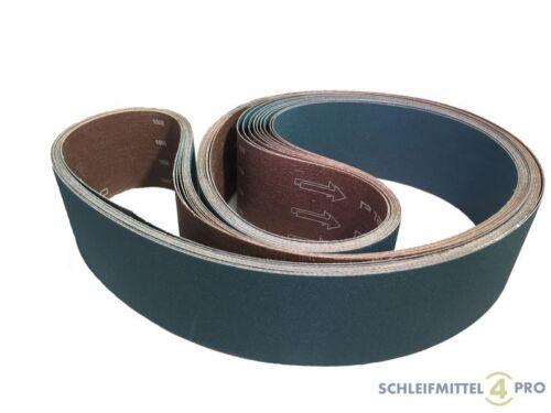 5 SANDERSHARK Schleifbänder 50x2000 K60 Gewebe ZK INOX//Holz//Metall Made AUT