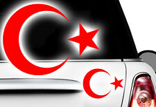 2x Aufkleber Türkei ISLAM Turkey türkiye Flag Aufkleber Sticker Halbmond Stern 4