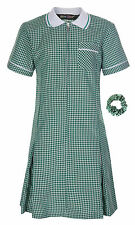 Large Size School Summer Gingham Dresses School Wear Uniform Size 34 36 38 40
