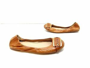 Women-039-s-Franco-Sarto-Elegance-Leather-Flats-Brown-Size-7-M