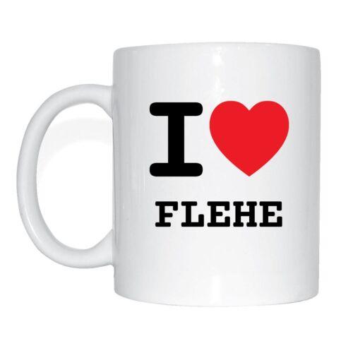 I love FLEHE Tasse Kaffeetasse