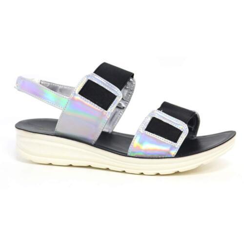 Ladies Womens Low Wedge Heel Comfort Walking Fitness Toning Sandals Shoes Size