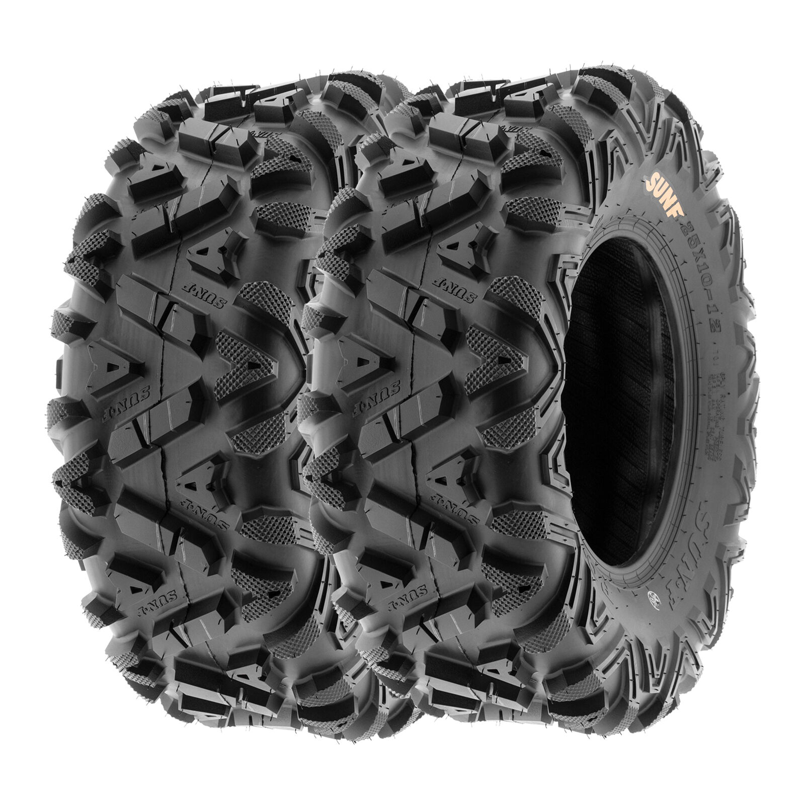 Set of 2 SunF  ATV UTV Tires 26x11-12 26x11x12 Mud Rear 6 PR A048 Tubeless