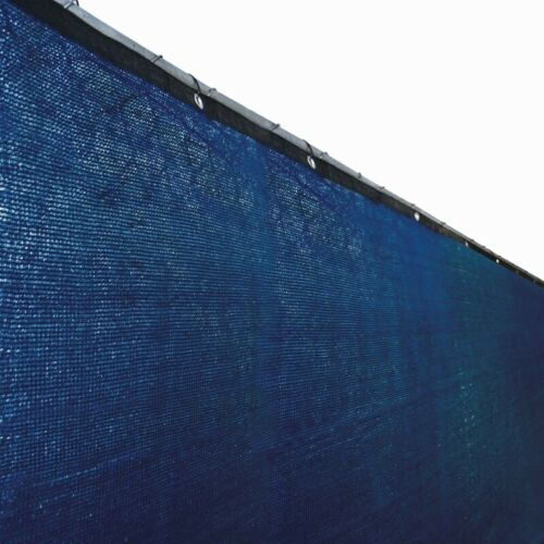 ALEKO Fence Privacy Screen Windscreen Mesh Fabric With Grommets Blue 6x150 Ft