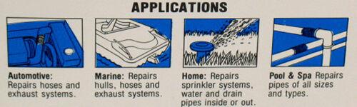 "2ROLLS FIBERGLASS PIPE HOSE REPAIR TAPE 4 X 108/"" WATERPROOF FIXES EVERYTHING!"