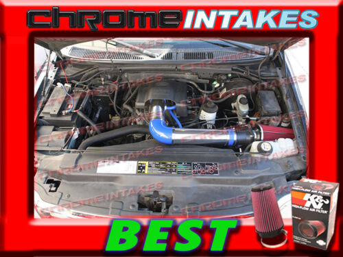 K/&N+BLUE RED  97-04 FORD F 150//250 F150//F250//EXPEDITION 4.6L 5.4L AIR INTAKE KIT