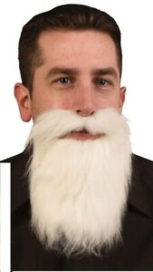 Adult-Mens-White-Facial-Hair-Beard-And-Moustache-Mustache-Costume-Accessory