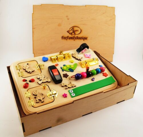 Christmas busy board Baby activity board Latches board Sensory gifts for baby