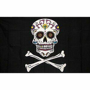NEW 2 pk 3 Pirate Skulls Replacement Flag