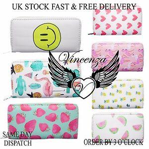 Vincenza-Women-039-s-Ladies-Long-Purse-Wallet-Emoji-Summer-Fun-UK-10-Designs