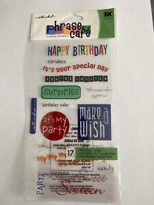 Funny Happy Birthday Captions Bubble Scrapbooking Stickers Sticko Ek Success