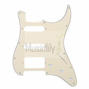 Cream-3Ply-HSS-Pickguard-Plate-For-Fender-Stratocaster-Strat-ST-Electric-Guitar