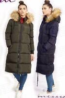 NEW Womens PUFFER Faux Fur PADDED Ladies JACKET COAT Black Size 8 10 12 14 16 ML