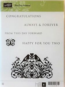 Stampin Up This Day Forward Transparent Fixation Timbres Mariage Félicitations