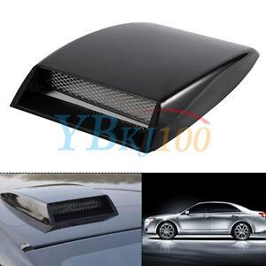 Cool Universal Car Decorative Air Flow Intake Scoop Bonnet Vent Cover Hood Black Ebay