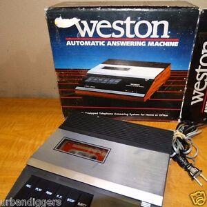 13143/ Vintage WESTON Automatic Telephone Answering Machine w/ orig box cassette