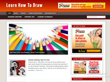 Learn To Draw Blog Ready Made Affiliate Website Free Hosting Setup