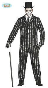 GUIRCA-Costume-vestito-scheletro-smoking-halloween-carnevale-uomo-mod-8448