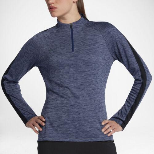 Nike donna con M calcio cerniera 872918 Maglia Blu manica nero Nuovo mezza asciutta da da 430 wBSxEqTX