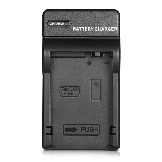 Akku Dual Ladegerät Charger für Canon LP-E890333EOS Rebel T2i T3i T4i T5i